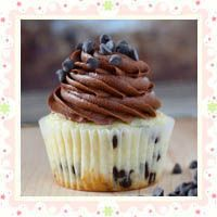 Chocolate Chip Cookie Dough Cupcakes by Your Cup Of Cake
