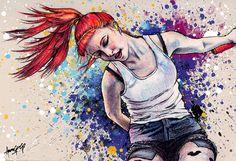 Hayley Williams Energy Explosion Art Print by adorachloe on Etsy, $7.00