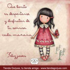 Me bonito es despertarse y disfrutar de tu sonrisa cada mañana       Feliz jueves a todos.   @TiendaGorjuss #FrasesGorjuss #TiendaGorjuss