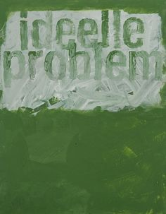 """Green Title, Ideal Problem"", Mari Slaatelid (2008)"