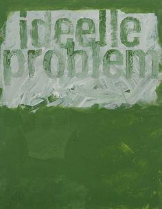 """Green Title, Ideal Problem"", Mari Slaatelid (2008)"