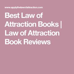 Best Law of Attraction Books | Law of Attraction Book Reviews