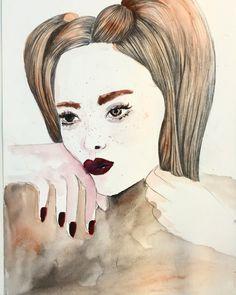 Watercolor Portrait. Vanessa Datorre