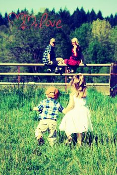 One of my engagment photos with my kids. I used this photo for my ceremony handout:) Love my babies :)
