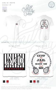 Alpha Phi | A Phi | Alphatraz | South by Sea | Greek Tee Shirts | Greek Tank…