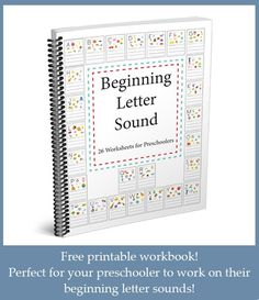 Do you have a preschooler? If so make sure you download this fun, educational, and colorful workbook - for them to practice their Beginning Letter Sounds!