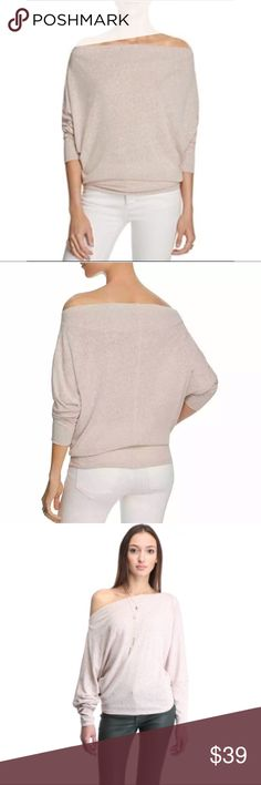 """Free People Valencia off the shoulder Top mauve 69% polyester, 31% cotton, size XS- bottom hem across 15"""", size S- 15.5"""", length from shoulder 22"""" Free People Tops Tees - Long Sleeve"""
