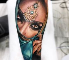 Girl Face tattoo by Bolo Art Tattoo