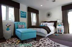 Dormitorios decorados en color chocolate