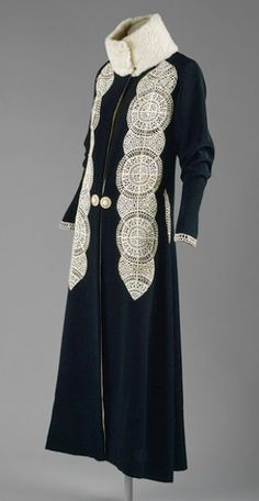 1916-18.....A winter evening coat made by Poiret (France)