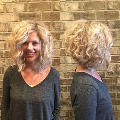 Image result for inverted bob curly long