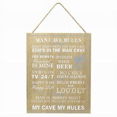 Sugarloaf - Home to an ever changing range of unusual gifts and homeware, perfect for all occasions. Man Cave Rules, Happy Wife, Unusual Gifts, Wooden Signs, Shit Happens, Men, Wooden Plaques, Guys, Wood Signs