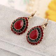 Bohemian Red Crystal Earrings Retro Water Drop Ear Drop Rhinestone Earrings For Women online - NewChic Rhinestone Earrings, Crystal Earrings, Women's Earrings, Vintage Earrings, Silver Earrings, Vintage Jewelry, Ear Drops, Fashion Earrings, Free Gifts