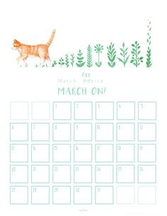 The March calendar (and wallpaper...) went out to my subscribers a couple of days ago. You can still get one by subscribing to my newsletter :)  Watercolor illustration of my cat - the whole series is called 'cat advice' with words of wisdom through-out the year.