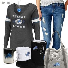 Detroit Lions Fashion - Cozy Lions Sunday