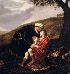 abraham-and-isaac-before-the-sacrifice.Jan Victors (1619 – 1676, Dutch)