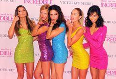 "Victoria's Secret models Lily Aldridge, Erin Heatherton, Adriana Lima, Candice Swanepoel, and Chanel Iman attend the Victoria's Secret debut of the New ""Incredible"" Bra at Victoria's Secret, SoHo."