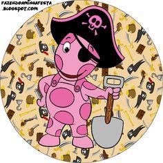 Pessoal mais um Kit feito por nossa Leitora Carla Faria com o Tema Backyardigans Pirata, usando um dos nossos fundos!! Parabéns Carla...