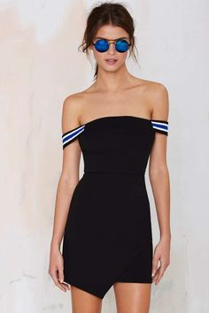 Nasty Gal The A-Team Bodycon Dress - Going Out | Dresses | Off The Shoulder | Going Out Sale |