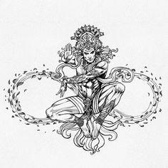 "Facets of Lord Shiva illustration with Earth, Fire, Wind and Water. ""Facets of Lord Shiva"" is published by Design Pickings. Arte Shiva, Shiva Hindu, Shiva Art, Shiva Shakti, Hindu Deities, Hindu Art, Krishna, Shiva Tattoo Design, Kali Tattoo"