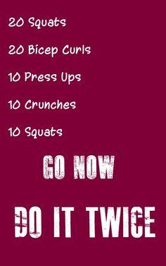 Go Now, Do It Twice