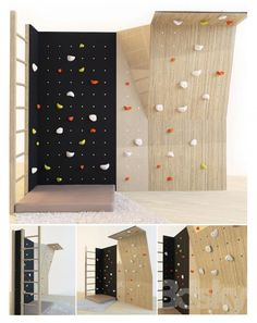 Home Gym Room Bedrooms Climbing Wall 35 New Ideas Indoor Climbing Wall, Rock Climbing, Bouldering Wall, Gym Room At Home, Basement Gym, Indoor Playground, Boy Room, Decoration, Landscape Design