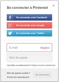 Pinterest autorise désormais l'authentification avec Google+ Sign-In