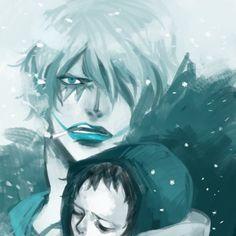 Trafalgar D. Water Law and Donquixote Rocinante (Corazon) (Corasan, Cora-san) One Piece blue