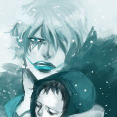 Trafalgar D. Water Law and Donquixote Rocinante (Corazon) (Corasan, Cora-san) One Piece blue