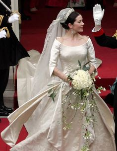Crown Princess Mary of Denmark during her wedding to the Crown Prince of Denmark - May 14, 2004