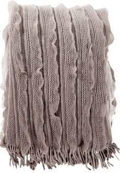 Monte Grey Ruffle Throw Blanket