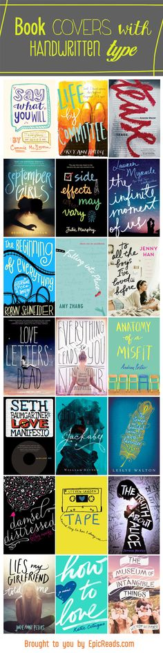 21 YA Covers With Gorgeous Handwritten Typography | Blog | Epic Reads