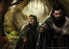 "Magali Villeneuve Portfolio: The Hobbit : ""Into Mirkwood"""
