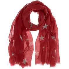 Mint Velvet Star Print Scarf ($53) ❤ liked on Polyvore featuring accessories, scarves, red, faux shawl, print scarves, faux-fur scarves, mint velvet and red shawl