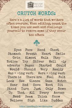 Helpful tips and tools for writing, inspiration and motivation. All items posted…