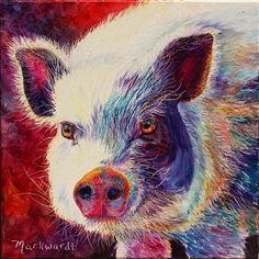 """Silk Purse"" Oil on Canvas #pig #art #oink"
