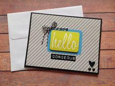 Handmade card, all occasion card, hello gorgeous card, homemade cards, blank cards, friendship cards