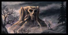 Skull mountain  #conceptart #landscape