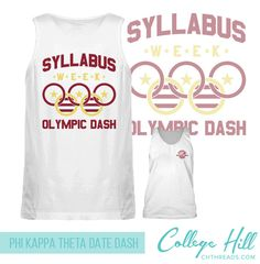 Did someone say syllabus week!? Perfect date dash tanks for Phi Kappa Theta by College Hill Custom Threads sorority and fraternity greek apparel and products! | @ch_threads |#Apparel #Design #University #Fraternity #Sorority #Fashion