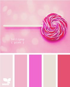 Lollipop pink - Color Palette - Paint Inspiration- Paint Colors- Paint Palette- Color- Design Inspiration