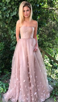 princess pink long prom dress, 2018 prom dresses, long prom dresses, pink prom dresses, strapless pink long prom dress graduation dress