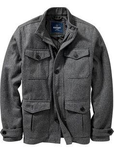 Men's Wool-Blend Four-Pocket Jackets Product Image