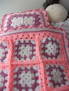 These blankets are unique, as I never make 2 the same, so there are always slight variations. They are perfect for a dolls bed or pram. This set is