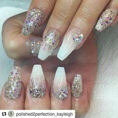 #Repost @polished2perfection_kayleigh with @repostapp ・・・ #sparklenails #glitternails #princessnails #nailart #nailsdone #nailstoday #nailswag #nailart #nailstagram #nailsalon #nailprodigy #nailstyle