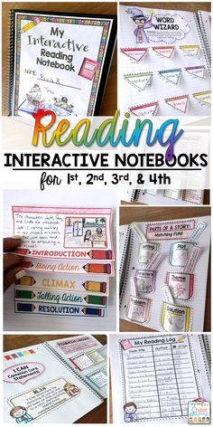 Reading Interactive Notebooks for 1st 2nd 3rd and 4th grade! - Includes cover and activities for students during independent reading time!