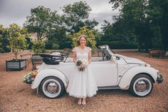 Beetle Car Teal Gold Barn Wedding http://www.mr-and-mrs-wedding-photography.co.uk/