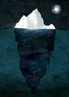 Iceberg Print for Fathoms Deep show.  www.frann.co.uk  Frann.pg@gmail.com  All work by Frann Preston-Gannon © 2012