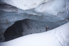 The Snow Dragon cave, one of the chambers of Mount Hood's Sandy Glacier cave system.
