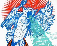 Poster - Screeching Weasel San Antonio silkscreened poster