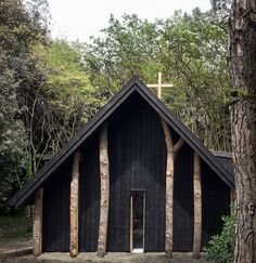Le Vatican, Chapel In The Woods, Santa Sede, Sacred Architecture, Japanese Architecture, Modern Architecture, 17th Century Art, Small Buildings, Garden Buildings